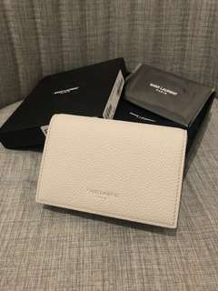 全新 YSL Saint Laurent Wallet Card Holder 卡片套 銀包