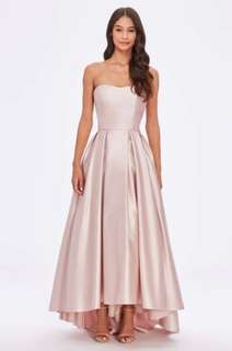 Light pink satin ballgown