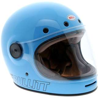 Bell Bullitt SIZE X-LARGE ONLY Retro Blue Helmet Adult Full Face Helmet Motorcycle Motorbike Cafe Racer Helmet