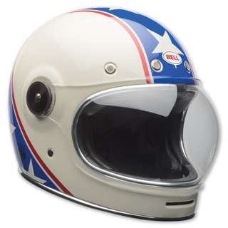 Bell Bullitt SIZE SMALL ONLY Chemical Candy Blue White Star Stars Stripes USA America Full Face Motorcycle Motorbike Cafe Racer Retro Vintage Helmet