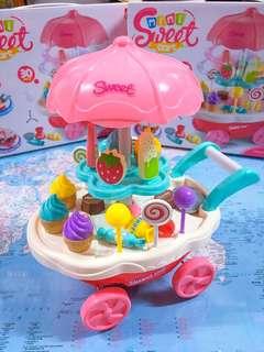 New~ Mini Sweet Cart/ IceCream Cart 迷你電動雪糕車   Kids toys