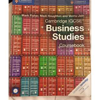 Cambridge IGCSE Business Studies Coursebook