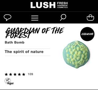 Lush Guardian of the Forest Bath Bomb