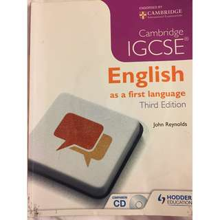 Cambridge IGCSE English First Language Study and by John Reynolds
