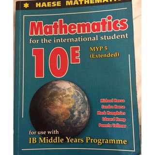 Mathematics IB 10E MYP 5