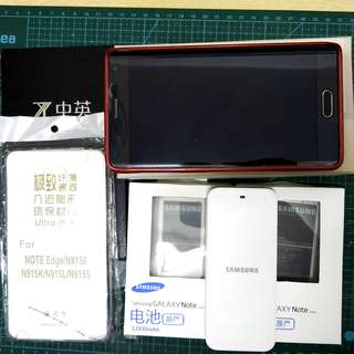 [有盒] Samsung Galaxy Note Edge黑色曲面mon,32GB ROM + 3GB RAM,連三舊電,電池充電器,全新保護套和保護貼 Good condition