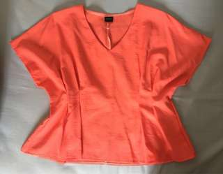 MAGNOLIA Peach V-Neck Top with Belt