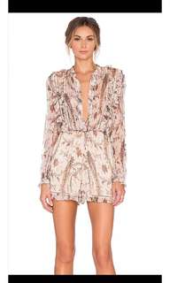 Zimmermann mischief playsuit size 2 like new