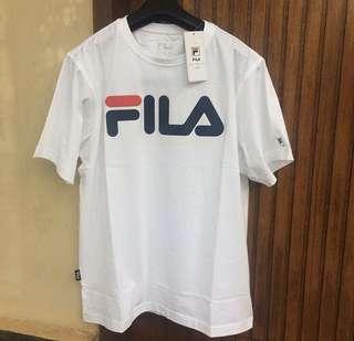 Fila original logo tee man white