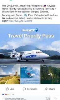 **4 Round Trip tickets to 3 locations (Batanes, Siargao, Coron) / Selling for P18500 last price (bought for 30K)**