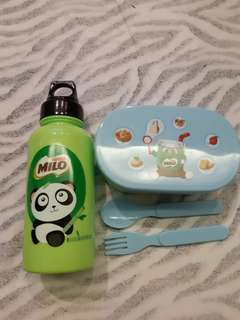 BN Milo lunchbox and water bottle