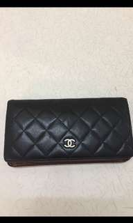 Authentic CHANEL Bifold Yen Long wallet