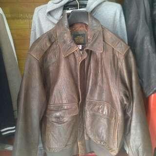 Jaket kulit vintage klasik made in amerika
