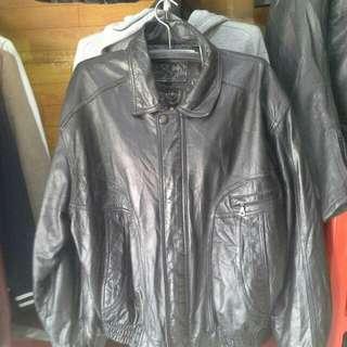 Jaket kulit asli model bomber import