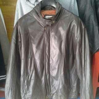 Jaket kulit asli model bomber impòrt
