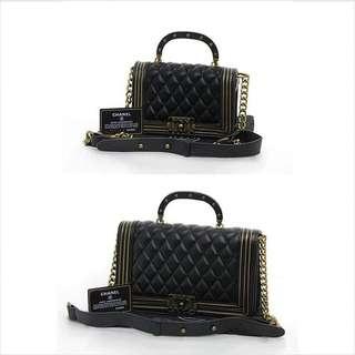 Chanel boy Studded Handle.