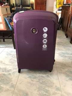 Delsey Luggage Purple Brand new BNIB 4 roller wheels