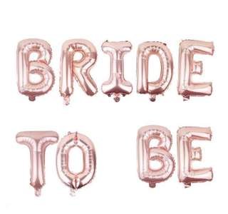Bride To Be rose gold foil balloon