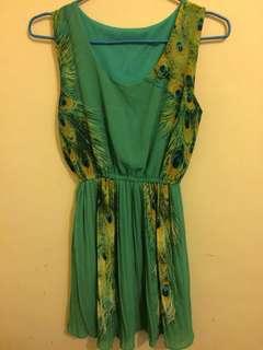 Green Peacock Dress