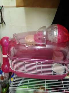 Hamster Cage pink 2 storey