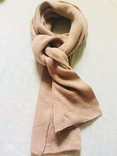 Knitted Scarf in Plaster Brown