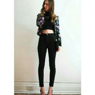 Highwaist Jeans Black (Hitam)