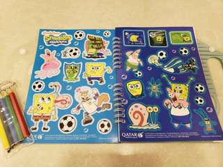 Qatar Airways Spongebob play book