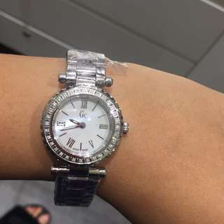 SALE! With Real Diamonds! Auth GC Luxury Watch