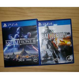 PS4 STAR WARS BATTLEFRONT 2 AND BATTLEFIELD 4
