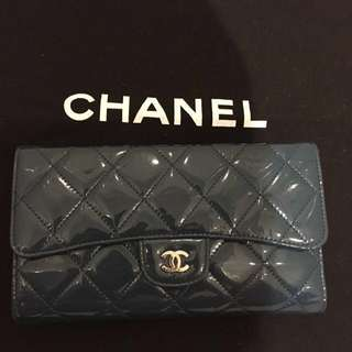 Authentic Chanel Classic Flap Long Wallet