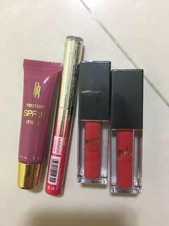 Lip gloss, lip tint