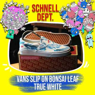 VANS SLIP ON BONSAI LEAF / TRUE WHITE