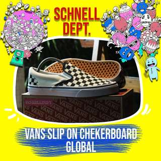 VANS SLIP ON CHECKERBOARD GLOBAL