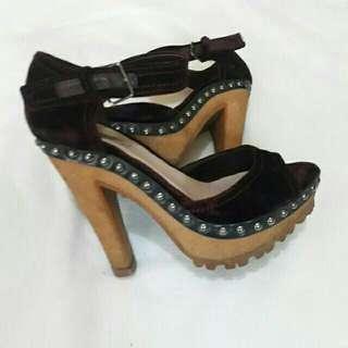 Miu Miu velvet heels