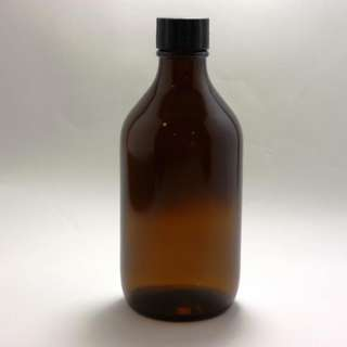 300mL Bottle Round Amber Glass / Essential Oil / Screw cap and stopper