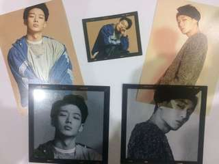 (loose item) iKON Bobby postcard set from rekonnect