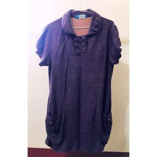 🚚 長版寬鬆上衣/娃娃裝/連身裙(紫)