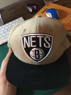 Brooklyn Nets Mitchell Ness Mens Unisex Snapback Hat NWOT