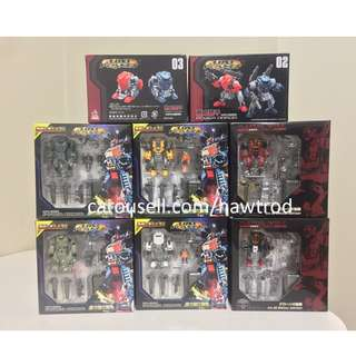 (Set of 8) Mech Fans Toys, Lost Planet Diaclone Powered-suit DA-02/03/04/05/08/09/08 Special Edition