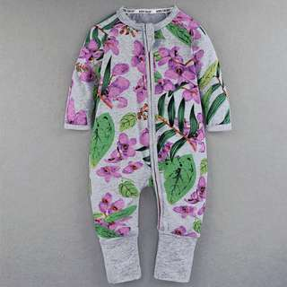 Baby Kids Boys Girls Grey Orchid Sleepsuit (Newborn - 2years)