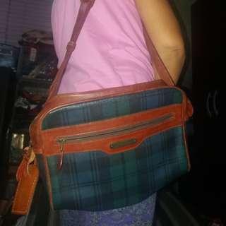 💯Original Ralph lauren plaid leather sling bag