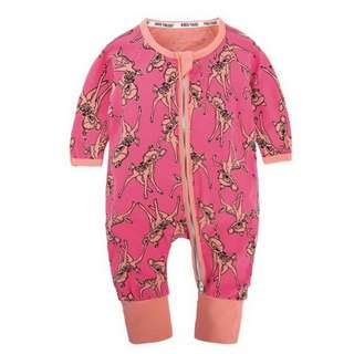 Baby Kids Boys Girls Coral Deer Sleepsuit (Newborn - 2years)