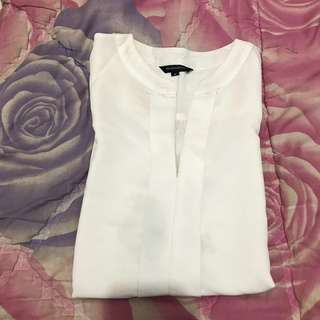 The Executive White Blouse