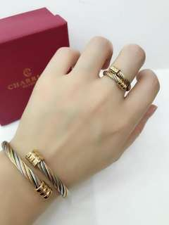 CHARIOL BANGLE WITH RING