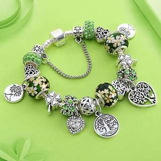 Green Tree of Life Charm Pandora Bracele