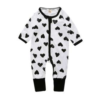 Baby Kids Boys Girls Black Love Sleepsuit (Newborn - 2years)