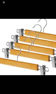 Set 10pcs wood hangers