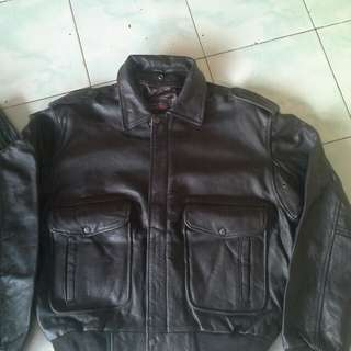Jaket kulit asli import ori bombogie