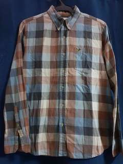 American Eagle Plaid Longsleeves Polo for Men