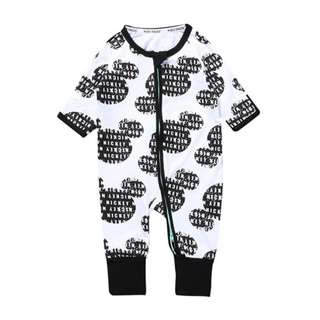 Baby Kids Boys Girls Black MM Logo Sleepsuit (Newborn - 2years)
